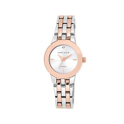 Anne Klein Women's Agnes Quartz Watch with Silver Dial Analogue Display and Two Tone Alloy Bracelet AK/N1931SVRT 並行輸入品