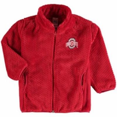 Little King リトル キング スポーツ用品  Ohio State Buckeyes Toddler Scarlet Plush Fleece Full-Zip Jacket