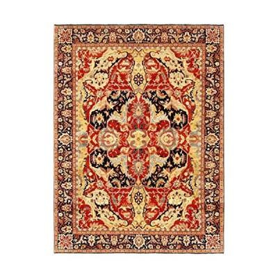 "Pasargad Home Turkish Bidjar Collection Hand-Knotted Lamb's Wool Area Rug- 8' 3"" X 9'10""【並行輸入品】"