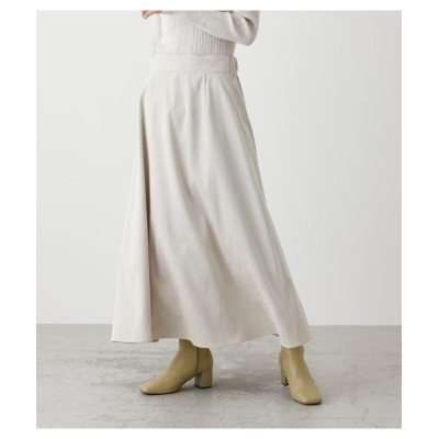(AZUL by moussy/アズールバイマウジー)CORDUROY FLARE LONG SKIRT/レディース IVOY3