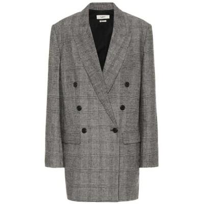 イザベル マラン Isabel Marant, Etoile レディース スーツ・ジャケット アウター eagan checked flannel blazer Black/Ecru