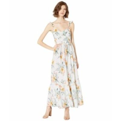 ロキシー レディース ワンピース トップス On A Wim Maxi Dress Gray Violet Seaside Floral