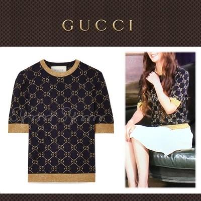 安室奈美恵さん着用 GUCCI グッチ メタリック コットンブレンド セーター 半袖 イッテQ