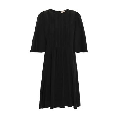 VANESSA BRUNO ミニワンピース&ドレス ブラック 40 シルク 100% / コットン ミニワンピース&ドレス