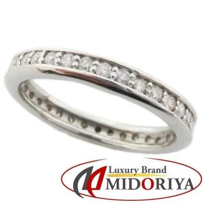 フルエタニティダイヤモンドリング Pt900 ダイヤモンド0.50ct 11号 プラチナ 指輪 レディース ジュエリー /64658 【中古】