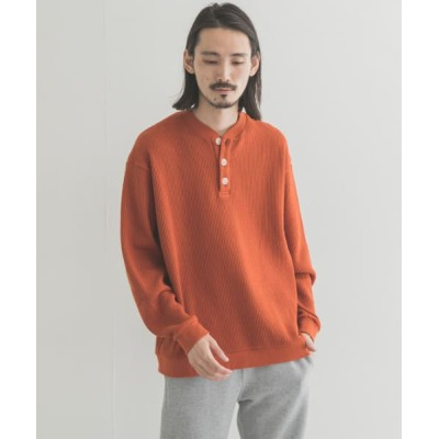 【アーバンリサーチ】 URBAN SENTO URBAN SENTO ヘンリーネックシャツ レディース オレンジブラウン M URBAN RESEARCH