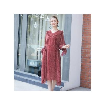 フローラル  マタニティドレス フォーマル パーティードレス お呼ばれドレス kh-1158
