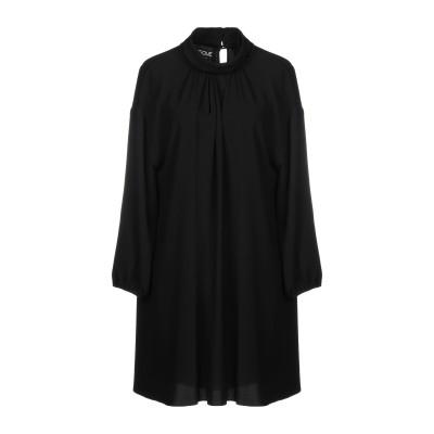 BOUTIQUE MOSCHINO ミニワンピース&ドレス ブラック 40 82% トリアセテート 18% ポリエステル ミニワンピース&ドレス