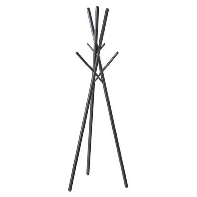 東谷(Azumaya-kk) コートハンガー 衣類ハンガー 衣類収納 ブラック 幅57.5×奥行57.5×高さ174cm ハンガー WIS-551BK