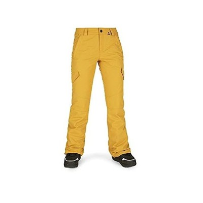 Volcom Junior's Bridger Insulated Snow Pant, Resin Gold, XL
