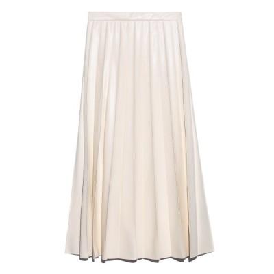 【フレイ アイディー】 ピンタックプリーツレザースカート レディース IVR 0 FRAY I.D