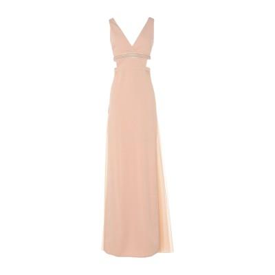 ELISABETTA FRANCHI ロングワンピース&ドレス サンド 44 ポリエステル 100% / ナイロン / ポリウレタン ロングワンピー