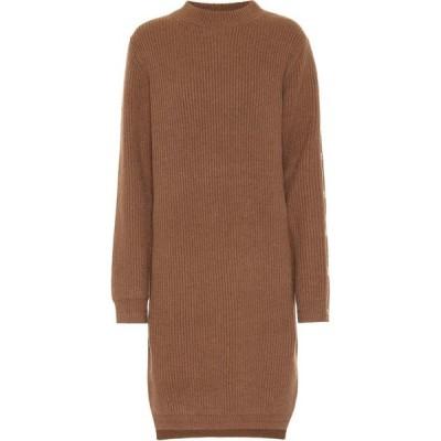 アクネ ストゥディオズ Acne Studios レディース ワンピース ミドル丈 ワンピース・ドレス ribbed-knit wool midi dress Toffee Brown