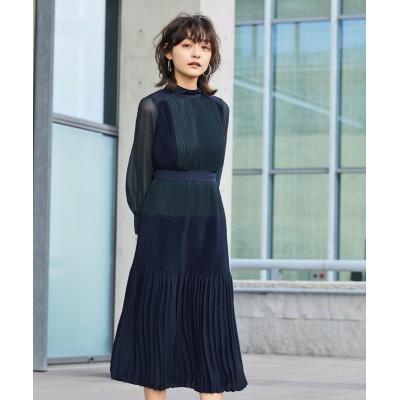 【Callarus】Color scheme pleats onepiece dress  【謝恩会・パーティドレス】Dress