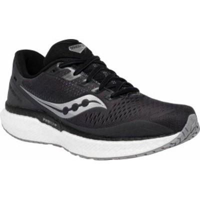 サッカニー メンズ スニーカー シューズ Men's Saucony Triumph 18 Running Sneaker Charcoal/White