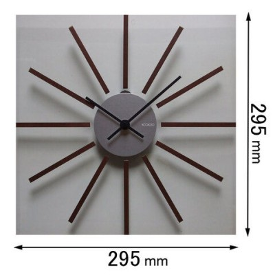 時計 掛け時計 フォーカス・スリー 掛け時計 Focus Three アルミグラス(ブラウン) V-1(BR) 【返品種別A】