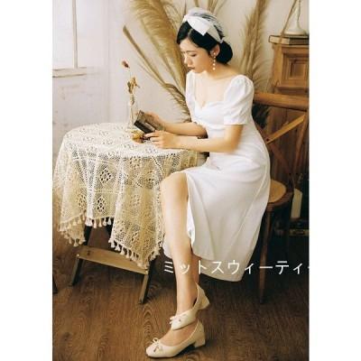 ウェデイングドレス フォトウエディング 二次会 半袖ドレス 花嫁 ワンピース 旅行 海外挙式 ビーチフォト 前撮り 後撮り ウェディングドレス ロングドレス