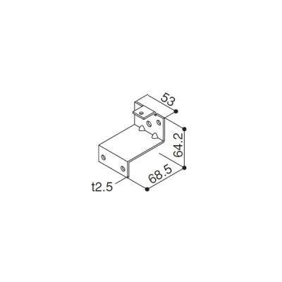 手すりブラケット(HH3K-15880) YKK バルコニ- アルミベランダ YKKバルコニー 5BC 空中庭園