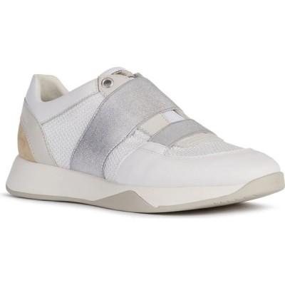 ジェオックス GEOX レディース スニーカー シューズ・靴 Suzzie Sneaker White/Light Gold Leather