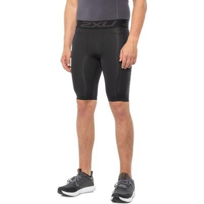 ツータイムズユー 2XU メンズ ショートパンツ ボトムス・パンツ Accelerate Compression Shorts - UPF 50+ Black/Arrow Stripe Nero