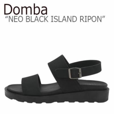 ドンバ サンダル DOMBA メンズ レディース NEO BLACK ISLAND RIPON ネオ ブラック アイランド リポン BLACK ブラック NBI-062 シューズ