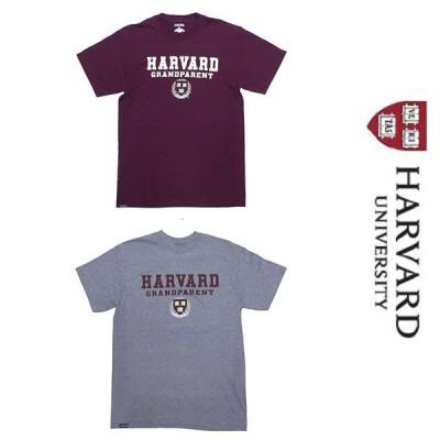 新品 HARVARD UNIVERSITY OFFICIAL COLLEGE S/S T-SHIRT ハーバード大学 オフィシャル カレッジ 半袖 Tシャツ マルーン グレー M 正規品 (L1817-HVT0001-2)