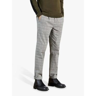 テッドベーカー カジュアルパンツ メンズ ボトムス Ted Baker Aloetro Check Trousers, Neutral Taupe