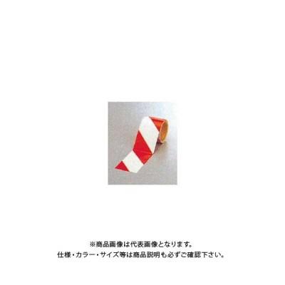 (運賃見積り)(直送品)安全興業 ダイヤテープ(10M巻)90mm巾 赤/白 (12入) NRR-90