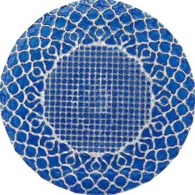 ミヤザキ食器 ハナ プレート 21cm ブルー HA2101BL  RHN7501