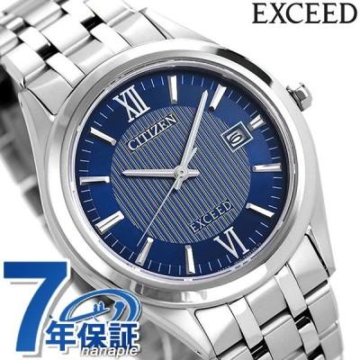 シチズン エクシード エコドライブ チタン メンズ 腕時計 AW1001-58L CITIZEN EXCEED ネイビー