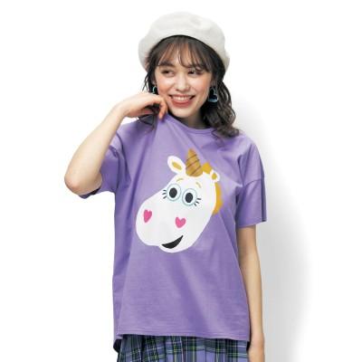 新柄追加!【かおかお】ビッグシルエットTシャツ(選べるキャラクター)(ディズニー)