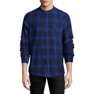 マイケルバスティアングレーラベル Men Clothing Plaid Cotton Sportshirt