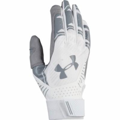 アンダーアーマー Under Armour レディース 野球 バッティンググローブ グローブ Motive Fastpitch Batting Gloves White/White/Steel