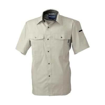 桑和(SOWA) 半袖シャツ 3/ベージュ S〜LLサイズ 617 作業着 作業服 ワークウェア ウエア トップス メンズ