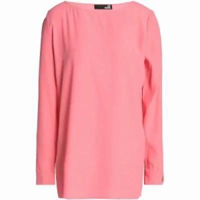 モスキーノ ブラウス・シャツ Cutout crepe blouse Bubblegum
