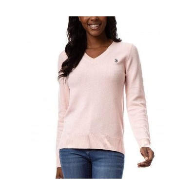 U.S. POLO ASSN. USポロ レディース 女性用 ファッション セーター Soft Touch V-Neck Pullover Sweater - English Rose