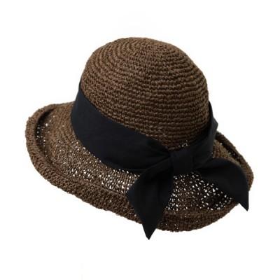 14+(ICHIYON PLUS) / セーラーリボン麦わらハット WOMEN 帽子 > ハット