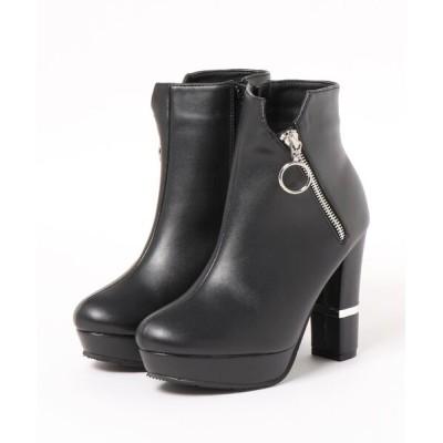 Mafmof / Mafmof(マフモフ) サイドジッパーデザインショートブーツ WOMEN シューズ > ブーツ