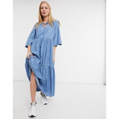 セレクティッド レディース ワンピース トップス Selected Joy dress in light blue