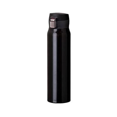 Atlas(アトラス) 水筒 Airlist中栓が分解できる 超軽量 ワンタッチボトル 国内最軽量クラス (ブラック 0.8L)