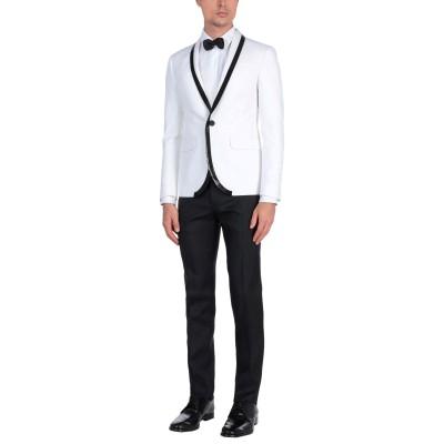 ディースクエアード DSQUARED2 スーツ ホワイト 46 コットン 66% / シルク 34% / バージンウール スーツ