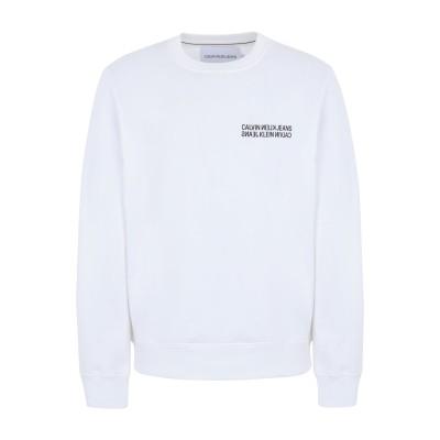 YOOX - CALVIN KLEIN JEANS スウェットシャツ ホワイト XL コットン 100% スウェットシャツ