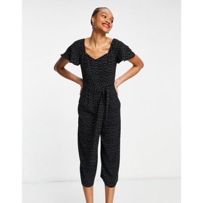 ホイッスルズ Whistles レディース オールインワン ジャンプスーツ ワンピース・ドレス micro triangle print jumpsuit in black ブラック/グリーン
