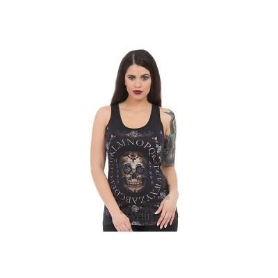 Tシャツ ジョーブレイカー レディース Jawbreaker Day Of The Dead Ouija Lace Back タンクトップ Occult Goth Skull