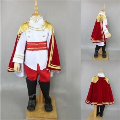 ハロウィン 衣装 Halloween 王子様 貴公子 華麗なヨーロッパ風 王様 服 キッズ用 男の子 5点セット ジェントルマン 貴族