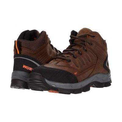 "Worx レディース 女性用 シューズ 靴 ブーツ ワークブーツ 5"" Cobalt Internal Metguard - Brown"