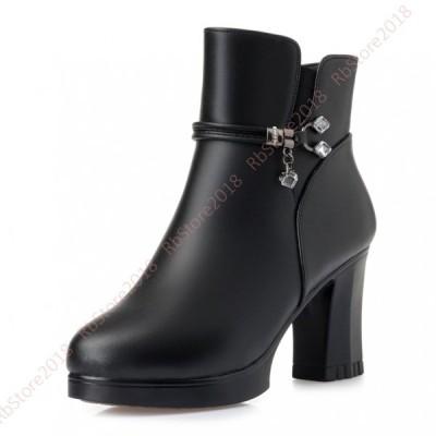ハイヒール  ブーツ レディース  本革アンクルブーツ 8.5cmヒール レディースシューズ  ファッション レディースブーツ 靴  ブーティ 歩きやすい オシャレ