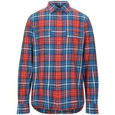 カルバン クライン CALVIN KLEIN シャツ アジュールブルー S コットン 100% シャツ