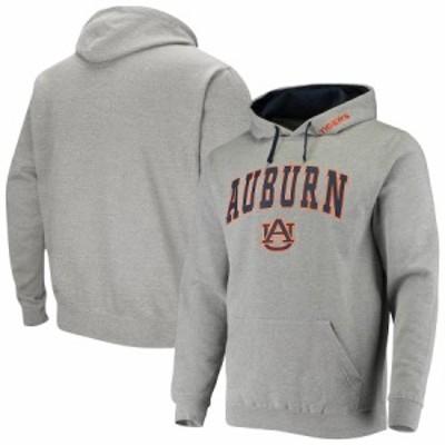"""メンズ フーディ """"Auburn Tigers"""" Colosseum Arch & Logo 2.0 Pullover Hoodie - Heathered Gray"""
