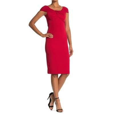 テイラー レディース ワンピース トップス Twist Front Cap Sleeve Dress RED